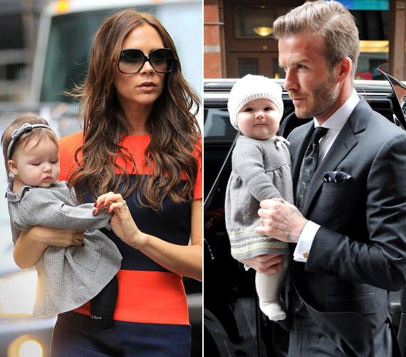 Harper Seven Beckhamet születése óta mindenhová magukkal viszik híres és stílusos szülei.