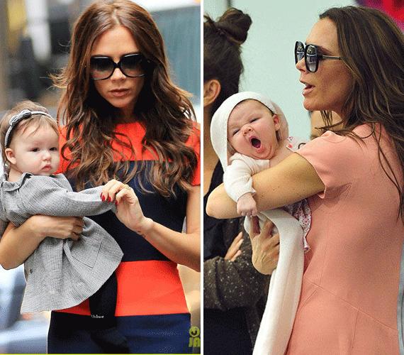 Victoria Beckham már egész kicsiként is divatos ruhákat adott a sztárbabára, így Harper már icipicinek ennivaló volt.