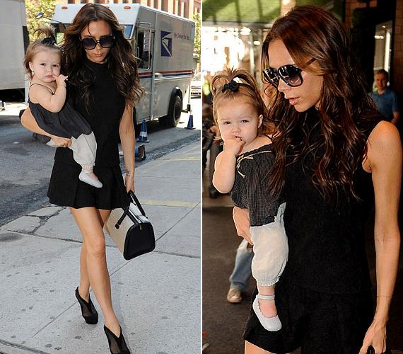 Szeptemberben anyja és lánya összeöltöztek: Victoria egy fekete miniruhát viselt, míg Harperen egy sötét színű spagettipántos felső és egy világos nadrág és topánka volt.