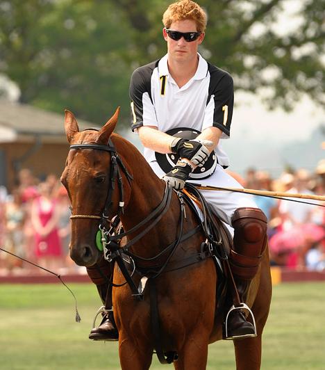 Lovaspólóban is jártas  Angliában a lovaspóló és a lovaglás a legnépszerűbb sportok közé tartoznak, Harry maga is remek lovas, ráadásul csodásan mutat a nyeregben.