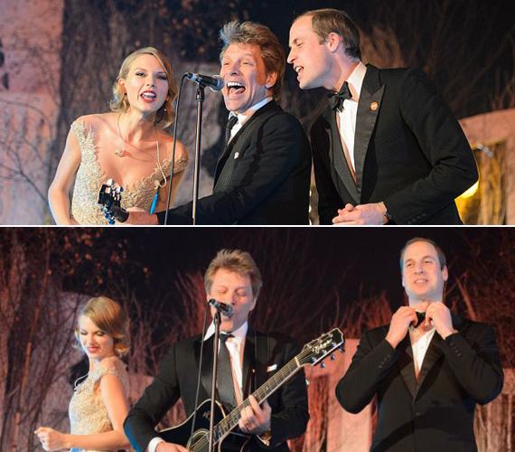 Jon Bon Jovi Livin' on a Prayer című számába bekapcsolódott Vilmos herceg is.