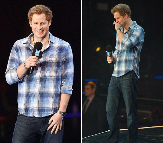 Mivel iskolások előtt mondott beszédet, Harry herceg is egy farmer, valamint egy kockás ing mellett döntött.