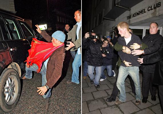 Harry 2004-ben és 2007-ben részegen keveredett emlékezetes összetűzésbe a fotósokkal.