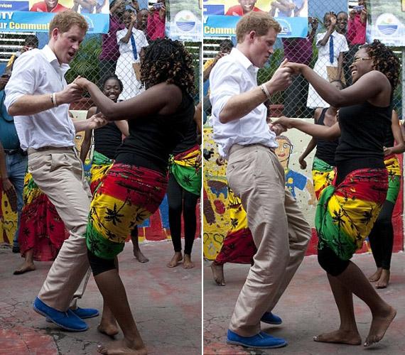 Bob Marley One Love című számára táncoltak, és a herceg gyorsan felvette a latin zene ritmusát.