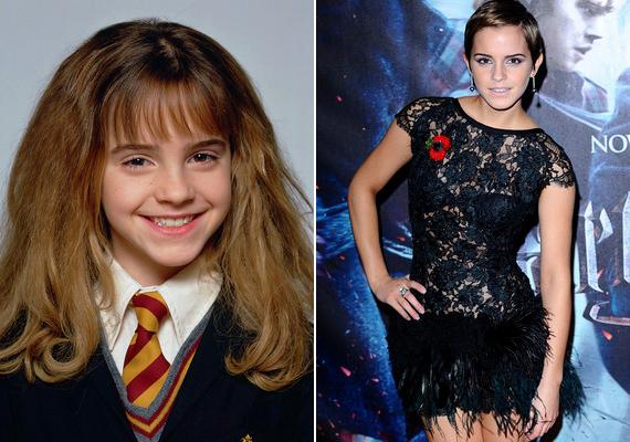 Emma Watsonra egy iskolai versmondó versenyen figyeltek fel a Harry Potter készítői. Az akkor mindössze kilencéves kislányt több ezer jelentkező közül választották ki a szerepre. Az utolsó film forgatása után úgy döntött, inkább a tanulásra szeretne koncentrálni, de közben a Burberry és a Lancôme reklámarca is lett.