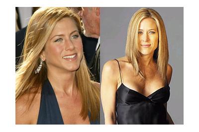 Jennifer Aniston és hasonmása