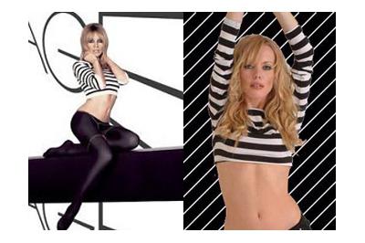 Kylie Minogue és hasonmása
