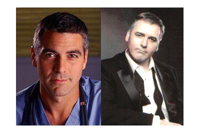 George Clooney és hasonmása