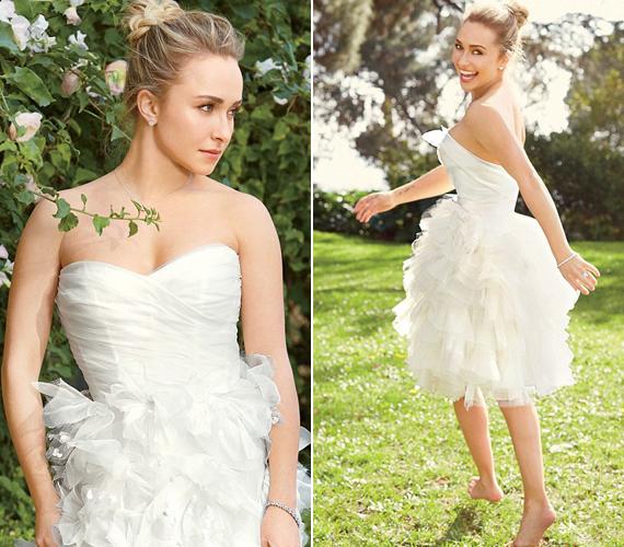 A színésznő szerint egyáltalán nem baj, ha egy esküvői ruha szexi vagy extravagáns.