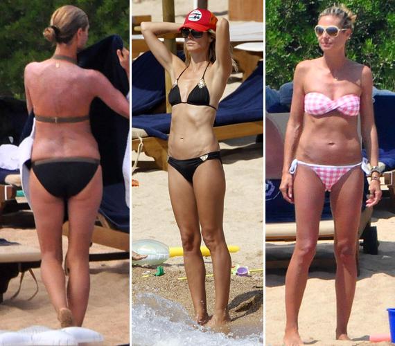 Heiditől merőben szokatlan ez a bikiniparádé, hiszen köztudott róla, hogy nem csinál nagy ügyet a standolásból - ha úgy tartja kedve, topless napozik.