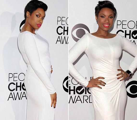 Jennifer Hudson fogyása óta szereti az alakot kiemelő ruhákat, most a fehéret is bevállalta.