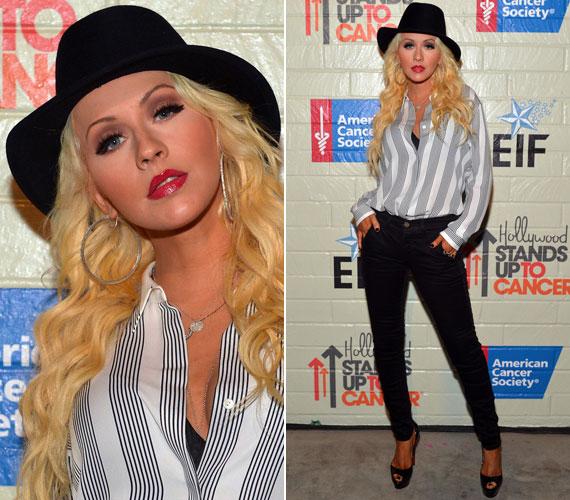 Christina Aguilera szűk nadrágban mutatta meg, hogy hosszú távra sikerült lefogynia, tavaly tavasz óta megőrizte karcsúságát.