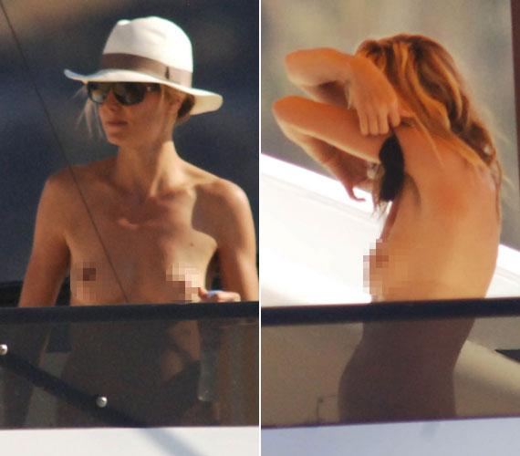 Bevállalós sztármami: Heidi Klum alaposan felforrósította a hangulatot a hajón.