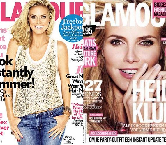 Klum többször is szerepelt már a Glamour borítóján, 2009-ben a januári, most pedig az augusztusi szám címlapjáról mosolyog.