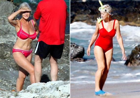 Az egész internetet bejárta Helen Mirren bikinis fotója tavaly. Bármit is mond a színésznő, azért látszik, hogy remek alakja nem csak a jó szögnek köszönhető.