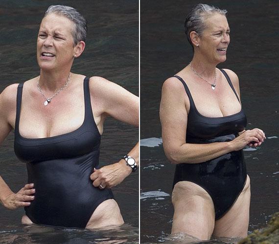 Jamie Lee Curtis november 22-én lesz 57 éves. A színésznő fütyül az álomalakra, és július végén Hawaiion ejtőzött.