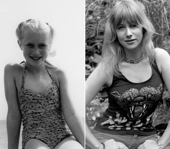 A bal oldali képen a színésznő gyerekkorában, kislányként látható méghozzá fürdőruhában. A jobb oldali már a lázadó kamaszkorban készült.