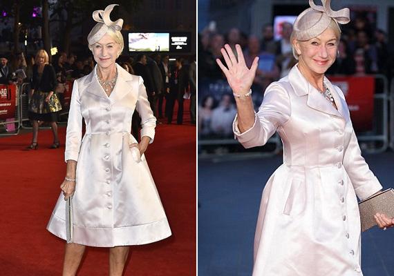 A 70 éves színésznő igazán gyönyörű volt a bemutatón. Ráadásul szépségét nem a plasztikai sebészeknek, hanem jó génjeinek köszönheti.