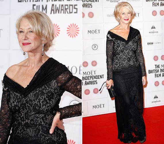 Tavaly decemberben a londoni British Independent Film Awards gála alkalmával viselte ezt a dögös fekete csipkeruhát.