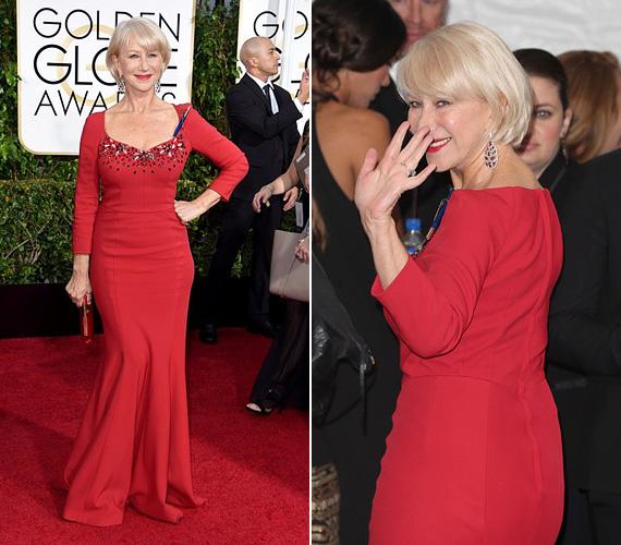 Szintén egy Dolce és Gabbana ruhában jelent meg az ez évi Golden Globe-gálán januárban, Los Angelesben, feltűnő jelenség volt a vörös szőnyegen.