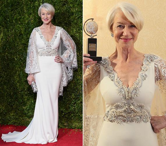 Helen Mirren tegnap este átvehette élete első Tony-díját, amelyet A hallgatóság című színdarabban nyújtott alakításáért kapott. Ebben II. Erzsébet királynőt játszotta. Érdekesség, hogy 2006-ban A királynő című filmjéért kapott Oscar-díjat, amiben szintén ő volt az angol uralkodó.