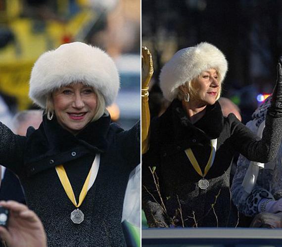 Amerika legrégebbi egyetemi drámacsoportjának, a Hasty Pudding Theatricalsnek a parádéján vett részt Helen Mirren.