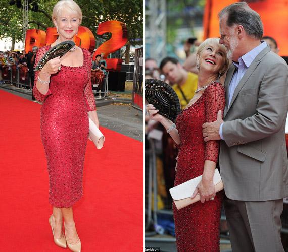 A színésznő az eseményre férjével, Taylor Hackford érkezett, akivel különlegesen harmonikus a kapcsolatuk.