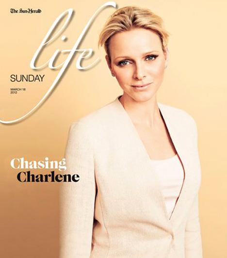 Charlene hercegnő                         A 2012-es Sunday Life címlapján már igencsak más külsővel szerepel, a pletykák szerint elvégeztek rajta néhány kisebb plasztikai beavatkozást.                         Kapcsolódó cikk:                         Plasztikáztatott a hercegnő? Fotókon a látványos változás »
