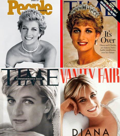 Diana hercegnő                         Ugyanaz a korona, mégis két teljesen más címlapfotó: a People egy szexi, míg a Time egy visszafogott felvételt készített Dianáról. A Vanity Fair címlapján alig lehet felismerni, míg a Lide fekete-fehér portréja örökre emlékezetes marad.                         Kapcsolódó cikk:                         Máig gyászolja a világ! Felejthetetlen fotókon Diana hercegnő »