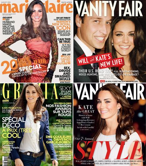 Katalin hercegné                         Bár Katalin hercegnő a világ jelenleg legnépszerűbb hercegnéje, tipikus címlaplány csak egyszer volt, akkor sem igaziból: a Marie Claire Photoshoppal tette fejét egy modell testére. Ennek ellenére szerepelt már a Vanity Fair vagy Grazia címlapján is.                         Kapcsolódó cikk:                         Szebb volt, mint Angelina Jolie! Katalin hercegnő leckét adott öltözködésből »