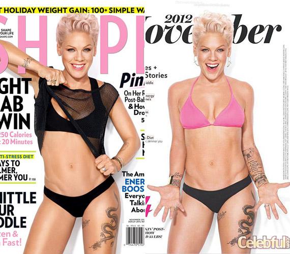 Vékonyabb, mint valaha: Pink 25 kilóval kevesebbel pózol a magazin lapjain.