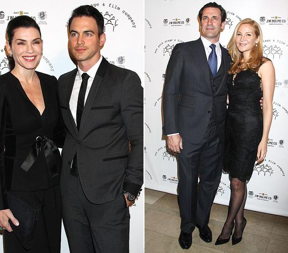 Vasárnap zajlott a New York Stage And Film Winter Gala New Yorkban, ahol több sztárt is lencsevégre kaptak. A képen Julianna Margulies és férje, Keith Lieberthal, mellettük pedig Jon Hamm a Reklámőrültekből barátnője, Jennifer Westfeldt társaságában.