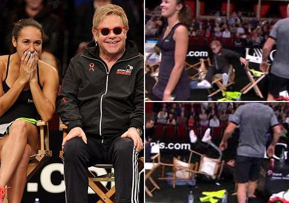 Elton John saját jótékonysági kosármeccsén vágódott el egy székkel.