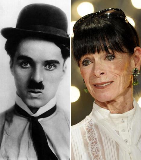 Charlie Chaplin és Geraldine Chaplin  A színészóriás mindkét lánya híres édesapjuk hivatását választotta. Geraldine Chaplin nyolcéves korában a papával együtt forgatta a Rivaldafény című mozit, majd az évek során a legelismertebb rendezők alkotásaiban bizonyította tehetségét.