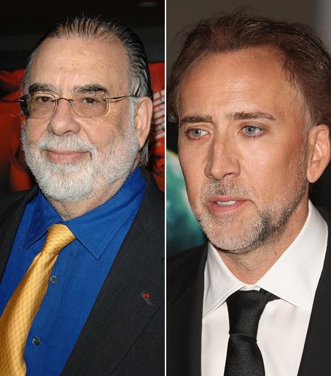 Francis Ford Coppola és Nicolas Cage  Az egykor jobb időket látott Nicolas Cage nagybátyja a világhírű rendező-producer, aki olyan filmeket vitt sikerre, mint az Apokalipszis most vagy a Keresztapa.  Kapcsolódó sztárlexikon: Ilyen volt, ilyen lett: Nicolas Cage »