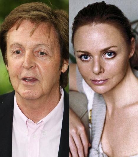 Paul McCartney és Stella McCartneyA The Beatles egykori sztárja feleségével igyekezett átlagos körülmények között nevelni gyermekeiket. Lánya, az 1971-es születésű Stella nem papája, sokkal inkább tehetsége révén divattervezőként érvényesült.
