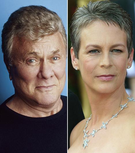 Tony Curtis és Jamie Lee Curtis  Tony Curtis lánya, Jamie Lee Curtis a férfi Janet Leigh-vel való házasságából született. Nem csoda, hogy legendás szülei után Jamie Lee is a színész szakmát választotta hivatásául.