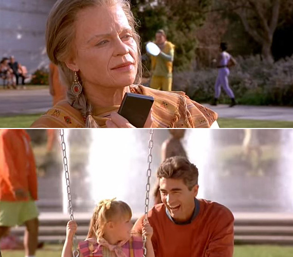 Az 1991-es Terminator 2 - Az ítélet napja eredeti vége éppen ellenkezőleg, egy pozitív jövőképet tár a nézők elé: 2029-et írunk, Sarah Connor - Linda Hamilton - öreg, ráncos nagymamaként ül egy játszótéri padon, és nézi, ahogy fia, John éppen a kislányát hintáztatja. A narrációból az is kiderül, Sarah sikeresen megakadályozta a Skynet öntudatra ébredését, fia szenátor lett, napsütés van és boldogság. Bár biztosan akad, akiknek tetszett volna ez a cukormázas megoldás, annyi bizonyos, hogy így semmi esély nem lett volna a folytatásra, ezt pedig a forgalmazók nem engedhették. Egyszóval maradt Schwarzie nagyjelenete az olvasztótégelybe merüléssel, és a nyitott vég, ami szabad utat engedett a történet tovább göngyölítésének.