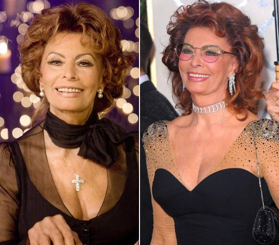 Sophia Loren márványasztalon, a csillár alatt tartja a szobrot a szalonjában, így senkinek nem kerülheti el a figyelmét, aki belép a dívához.