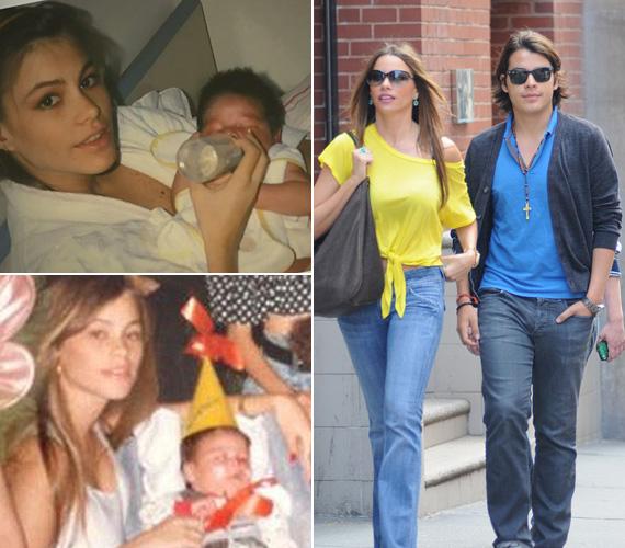 Sofia Vergara színésznő is 19 éves volt, amikor 1992-ben megszületett fia, Manolo, akkori férjétől, Joe Gonzaleztől. Egy évvel később elváltak, a fiával azonban igazi baráti a viszonya, a zavarba ejtően fiatalos sztáranyukát olykor a fia barátnőjének is nézik.