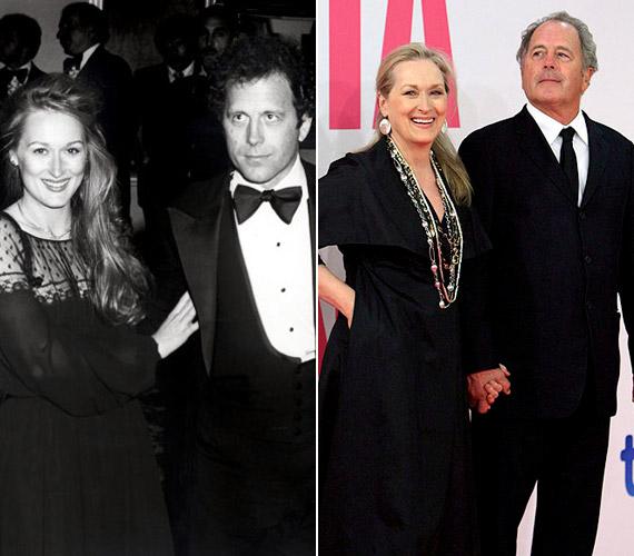 Meryl Streep és Don Gummer: 34 éve együtt. Frigyük jelentőségét az is mutatja, hogy Meryl a 2012-es Oscarja átvételekor elsőként férjének mondott köszönetet. A színésznő és a szobrász 1978-ban kötöttek házasságot egy csendes, szűk körű esküvő keretein belül, és kapcsolatuk azóta is virágzik.