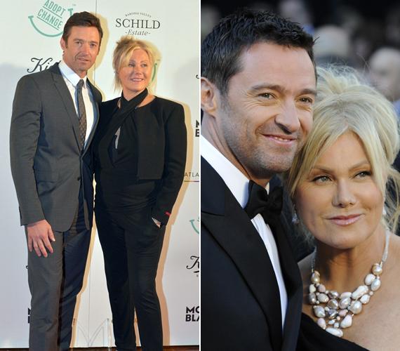 Hugh és Deborra-Lee ölelkezve pózolt a fotósoknak az Adopt Change jótékonysági gáláján. A szervezet egyik alapítója maga a színésznő.