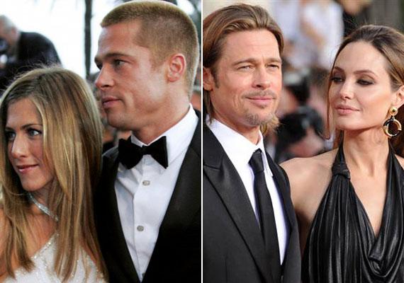Brad Pitt öt éven keresztül volt Jennifer Aniston férje, amikor 2005-ben a Mr. és Mrs. Smith forgatásán megismerkedett Angelina Jolie-val, és egymásba szerettek. Kilenc év után, 2014-ben házasodtak össze.