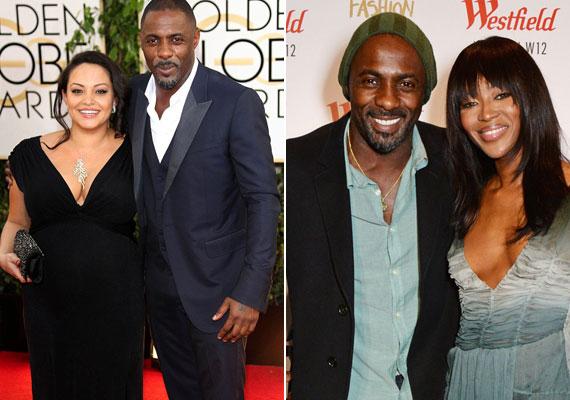 Idris Elba 2014-ben az állapotos Naiyana Garth oldalán pózolt a Golden Globe-on. Akkor még minden rendben volt a páros között.