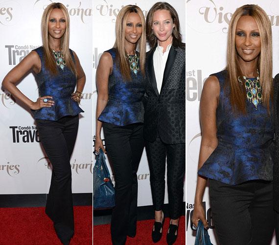 2012 szeptemberének közepén New Yorkban a Condé Nast estélyén modell kolléganőjével, Christy Turlingtonnal fotózták. Nehéz lenne rájönni, melyikük 57 és melyikük 43 éves.