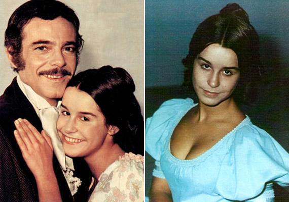 A hazai nézők minden bizonnyal így emlékeznek Lucélia Santosra: ártalanul simulva Leoncio, vagyis Rubens de Falco karjaiba.