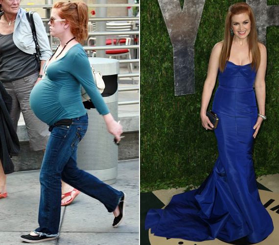 A mindössze 160 cm magas színésznőnek mindkét terhessége alatt hatalmasra nőtt a babapocakja. Ebből az idei Oscar-gálát követő Vanity Fair-partin már semmi sem látszott.
