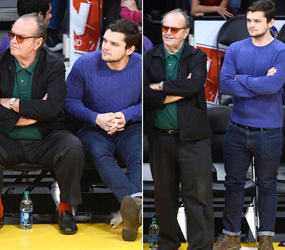 Jack Nicholsont és fiát általában kosármeccseken kapták eddig lencsevégre.