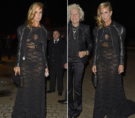 Az egykori It Girl, Lady Victoria Hervey nem szégyenlős, bátran felveszi a teljesen áttetsző ruhákat is.