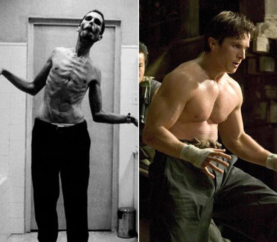A legbrutálisabb fogyás kétségkívül Christian Bale nevéhez fűződik, aki A gépész film miatt szabadult meg jó pár kilótól.